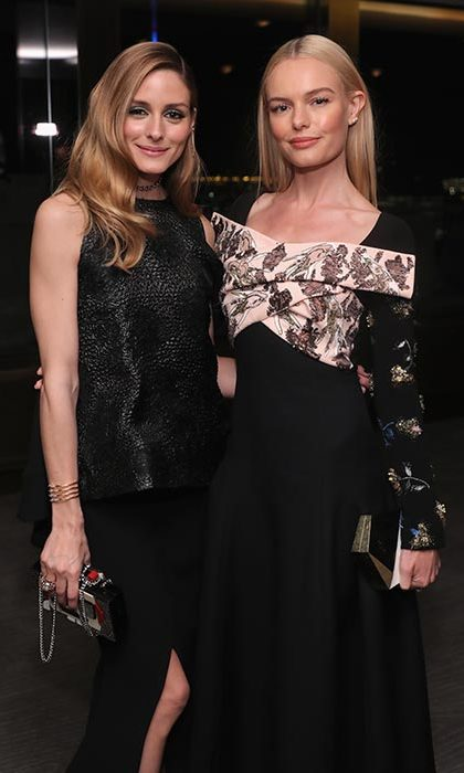 Olivia and Kate posed happily together.
