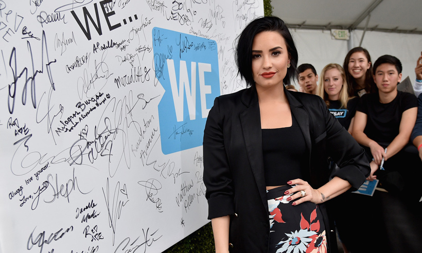 WE Day ambassador Demi Lovato. 