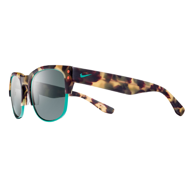 "Volition Sunglasses in Matte Tokyo Tortoise and Hyper Jade, $236, <a href=""http://www.nikevision.com"">nikevision.com</a>"