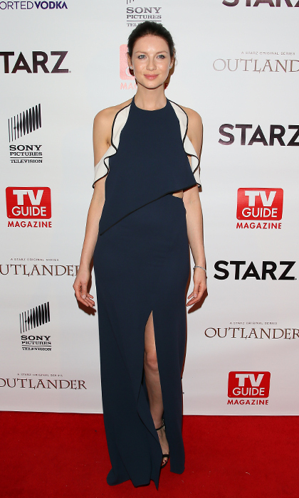Caitriona takes her minimal look in a new direction with this ruffled Jonathan Simkhai gown at the TV Guide & Starz Celebration of <i>Outlander</i> at Palihouse in West Hollywood.