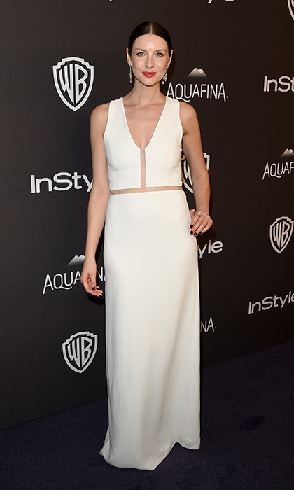 At HBO's 2016 Golden Globes after-party, the former model opted for simple elegance in an off-white Alexander McQueen gown paired with Fred Leighton earrings.