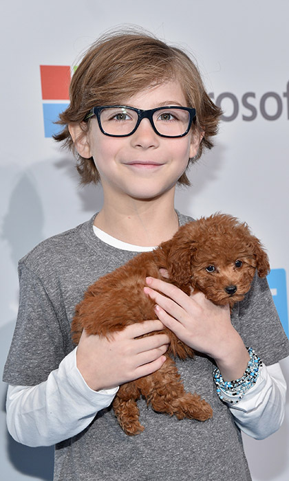 Jacob Tremblay celebrated WE Day California in Los Angeles with his adorable new puppy. 