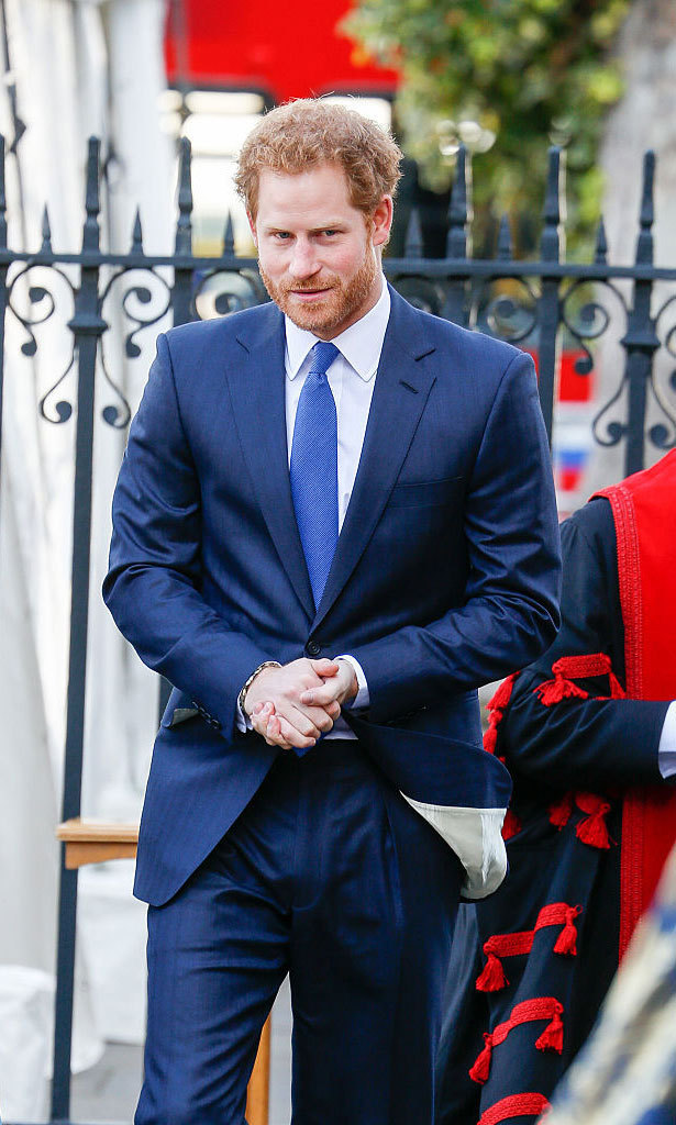The British royal carried out the solemn engagement on April12.