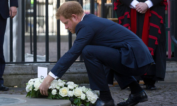 Prince Harry laid a wreath on behalf of his grandmother for the victims of the 2015 Tunisia attacks.