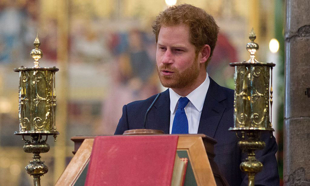 The royal delivered a reading from Revelation during the service.