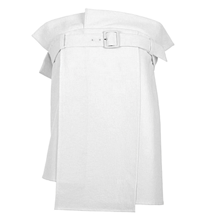 <strong>Drape Twill Strapless Trench Top in White</strong>, $485, 