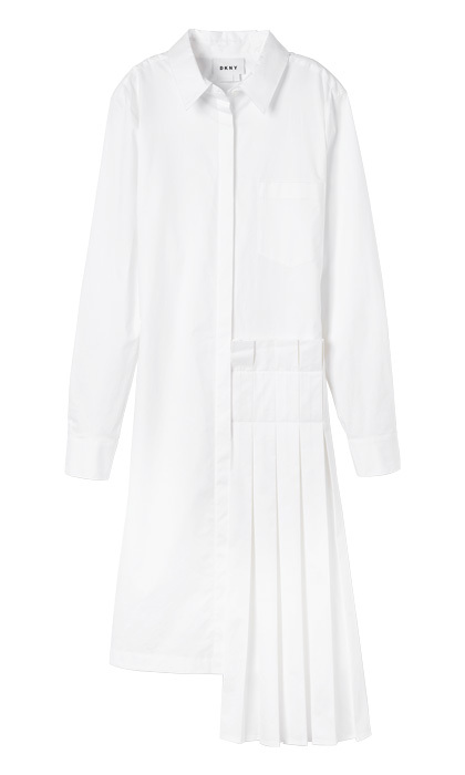 <strong>DKNY shirtdress with Pleated Skirt</strong>, $598,