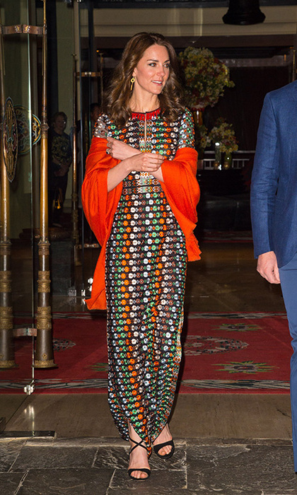 Kate wore the dress for a private dinner with the King and Queen of Bhutan.