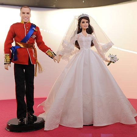 The Duke and Duchess of Cambridge on their wedding day five years ago.