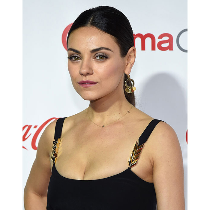 Mila Kunis took the ponytail from day to night with this super sleek style - we're also huge fans of her pale grey eyeshadow and pink lipstick combination for a subtle yet glamorous finish.