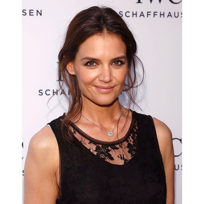 Katie Holmes gave fans major beauty inspiration with her edgy smokey eye make-up, radiant complexion and slightly tousled updo.