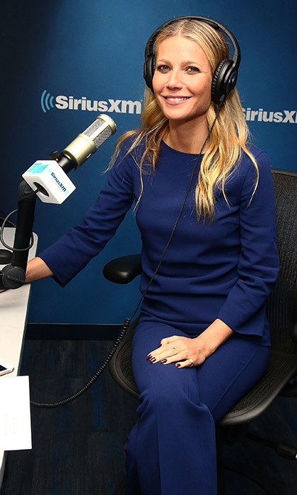 Gwyneth Paltrow dropped by the 'My Favorite Song with John Benjamin Hickey' show on SiriusXM to promote her new cookbook <i>It's All Easy</i>. 