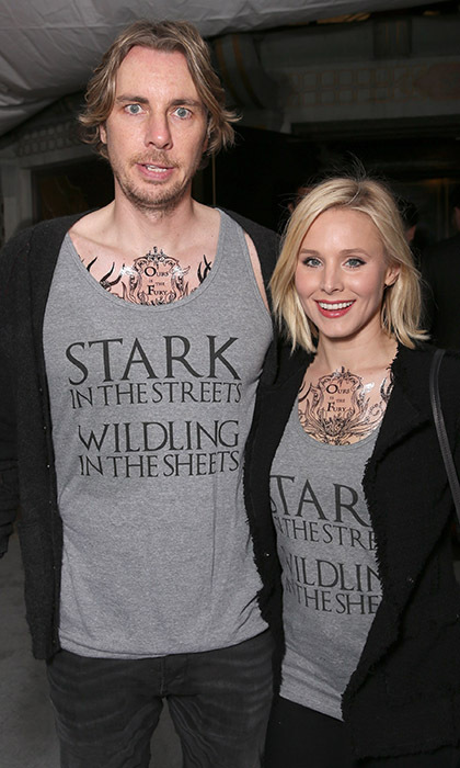 Dax Shepard and Kristen Bell proved to be some of Hollywood's biggest <i>Game of Thrones</i> fans at the show's season six viewing party in Los Angeles. 