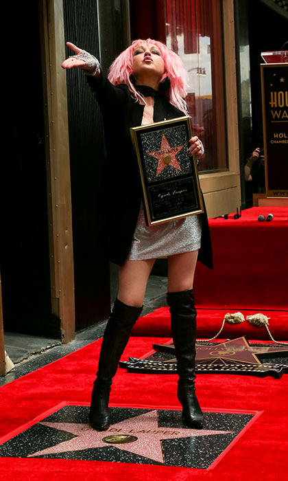Cyndi Lauper just wanted to have fun at the unveiling of her star on Hollywood's Walk of Fame. 