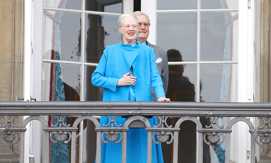 Queen Margrethe II of Denmark with her husband, Prince Henrik.