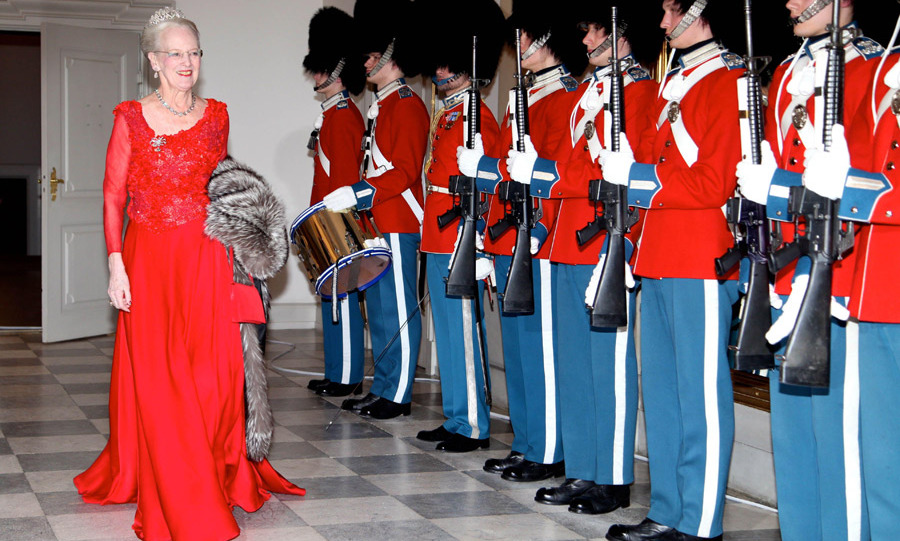 Queen Margrethe at a gala evening last month.
