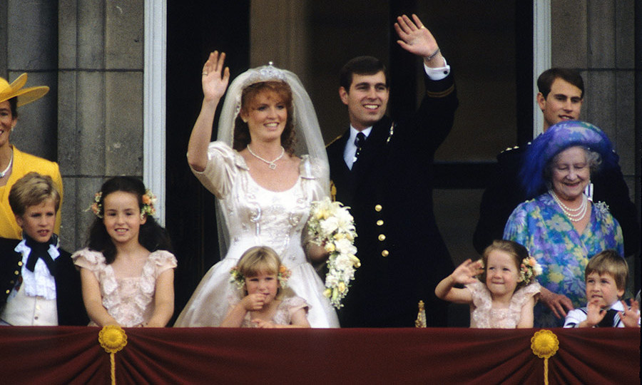The wedding of Sarah Ferguson, Duchess of York and Prince Andrew, Duke of York on July 23, 1986.