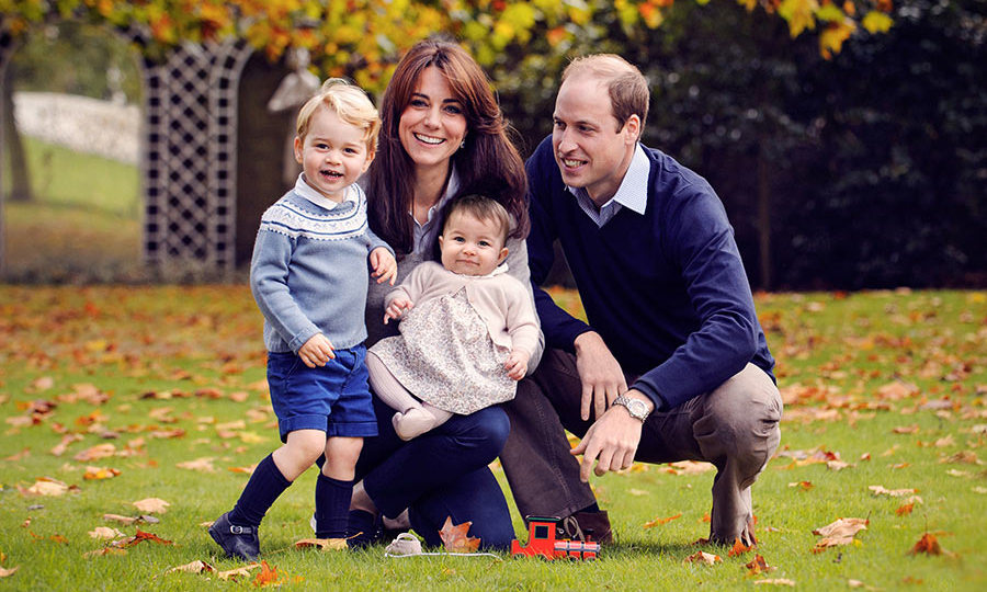 Prince William and Kate pictured with their children, Prince George and Princess Charlotte.