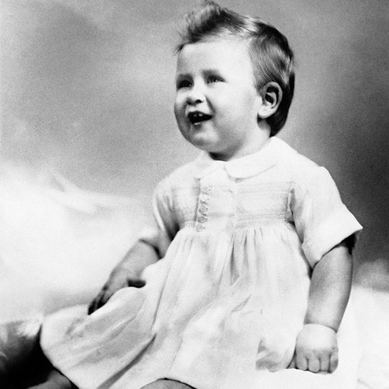 A picture of Prince Charles taken for his first birthday.