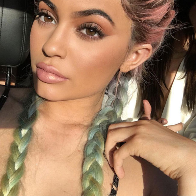 Kylie Jenner took the braid trend one step further when she opted for this eye-catching rainbow-hued look.