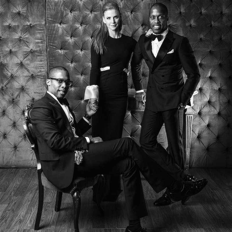 Dexter Peart, Sarah Rafferty and Byron
