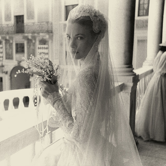 "<p>The bride gave new meaning to the word ""icon"" when she stepped out on Apr. 29 1956 in her stunning wedding gown.