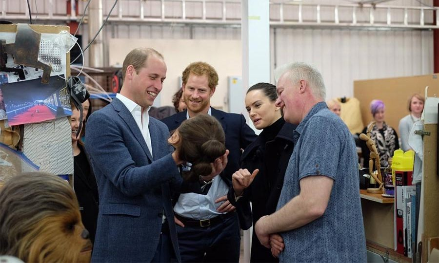 The royal brothers were accompanied on the tour by actress Daisy Ridley.