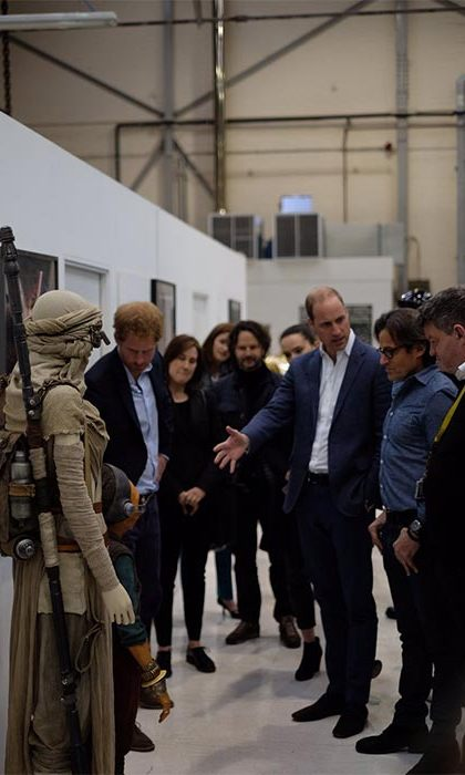 William and Harry's visit is to highlight the wealth of British creative talent involved in the production of the Star Wars films.