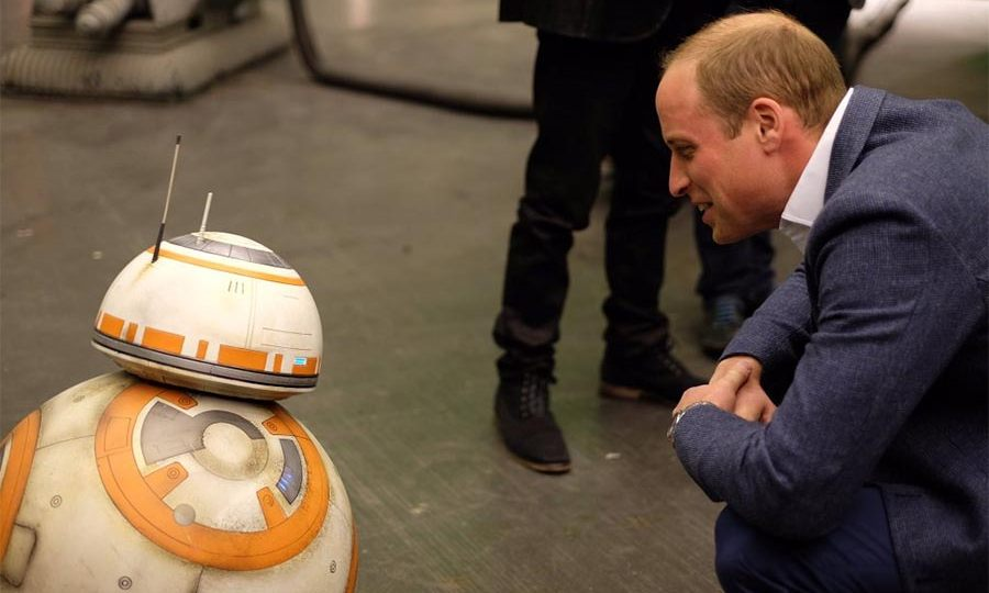 While his brother Prince William took a closer look at BB-8.