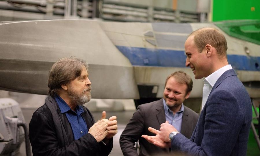 The royals had the opportunity to meet Mark Hamill, who plays Luke Skywalker in the film series.