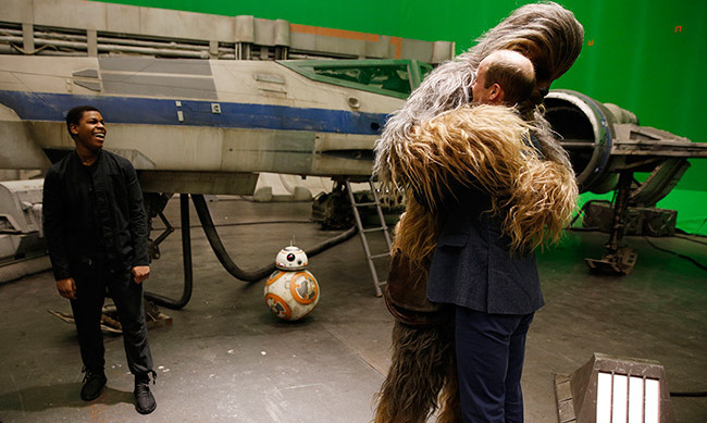 Prince William also got up close and personal with Chewbacca. 