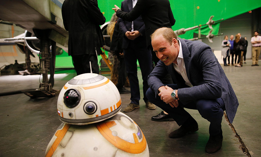 Prince William with BB-8.