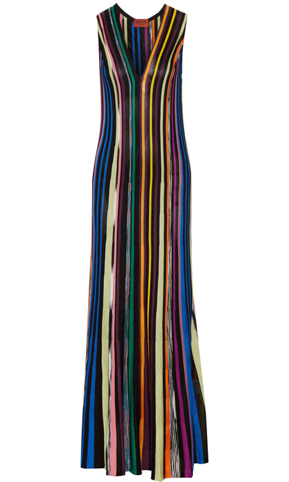 <strong>Missoni Striped Crochet-Knit Maxi Dress</strong>, $1,380,