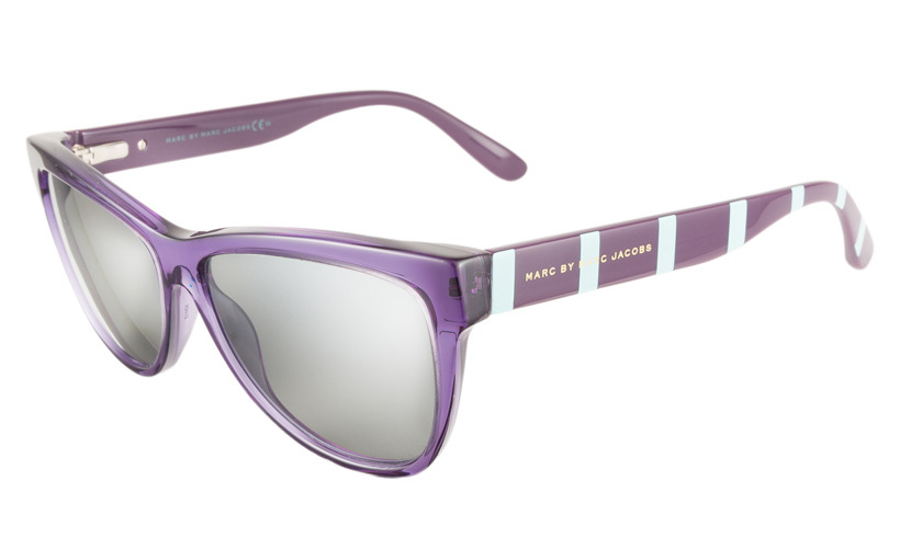 <strong>Marc by Marc Jacobs Violet and Turquoise Sunglasses</strong>,