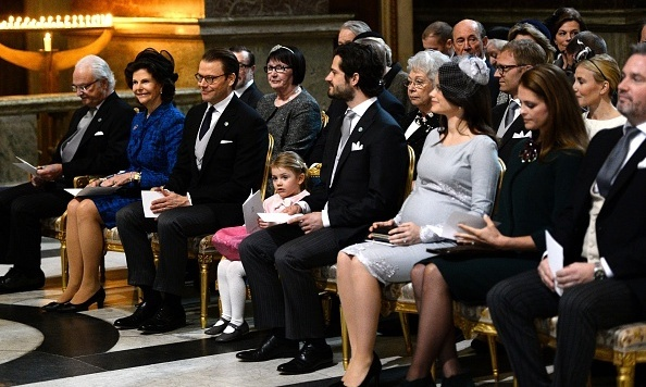 Sofia was nearing the end of her pregnancy when the royal family came together for the thanksgiving service to celebrate Prince Oscar's birth.