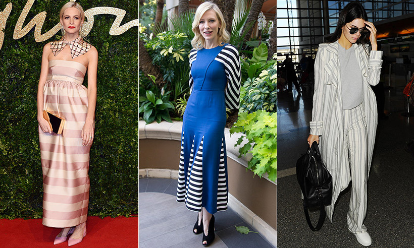 <p>British It girl Poppy Delevingne does modern  femininity in a floor-length striped pink satin dress and sequinned collar.<br>Photo: © Rex</p><p>A master at blending quirky with classic styles, Cate Blanchett in a bold cobalt midi dress with black and white panels.<br>Photo: © Action Press/CP</p>
