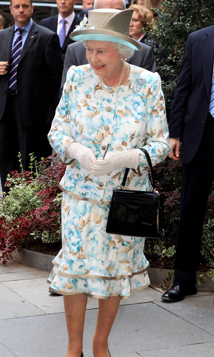 The Queen has always been a fan of floral prints. 