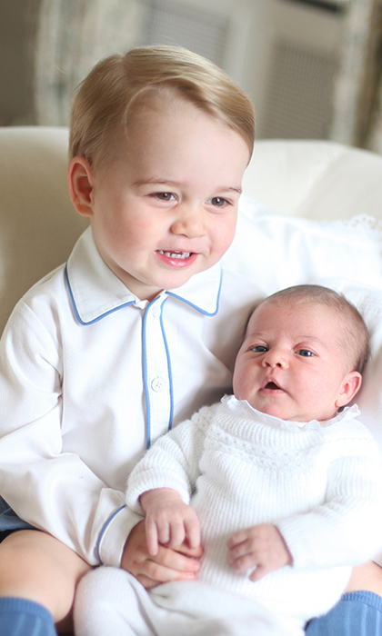 George became a big brother to Princess Charlotte in May 2015.