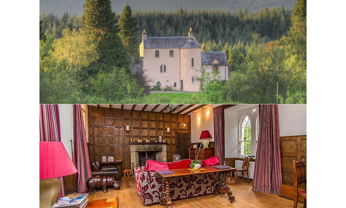 <h3>Duchray Castle in Aberfoyle, Scotland</h3>