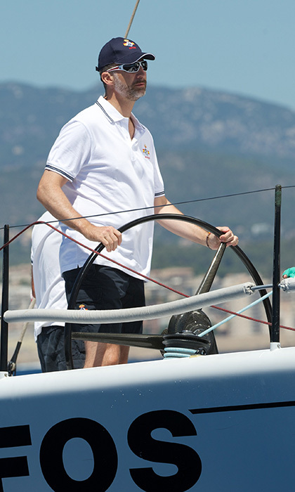Before he was crowned <b>King of Spain, Felipe</b> regularly participated in the King's Sailing Cup challenge. Now he attends when he can and always enjoys the experience. The monarch was also was a member of the Spanish Olympic sailing team at the Barcelona Games in 1992.