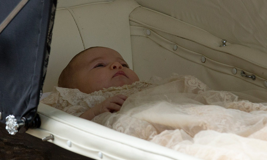 Princess Charlotte wore a replica of a Victorian gown made by the Queen's dressmaker Angela Kelly in 2004. 