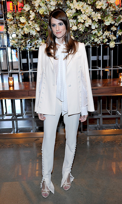 Allison Williams is Western chic in Prabal Gurung at the Los Angeles screening of <em>The First Monday in May.</em>