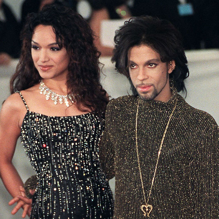 The <em>Purple Rain</em> singer with his former wife Mayte Garcia.