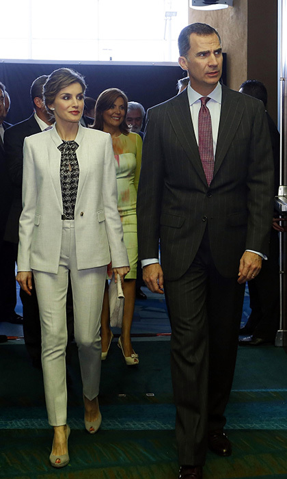 <h3>Queen Letizia of Spain with her husband King Felipe</h3>