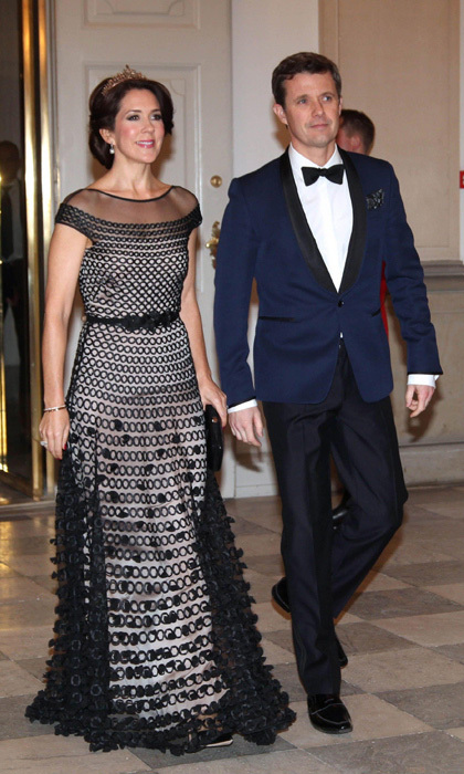 <h3>Crown Princess Mary of Denmark with her husband Prince Frederik</h3>
