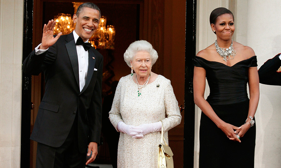 In 2011, the Queen hosted a lavish state dinner for the Obamas.