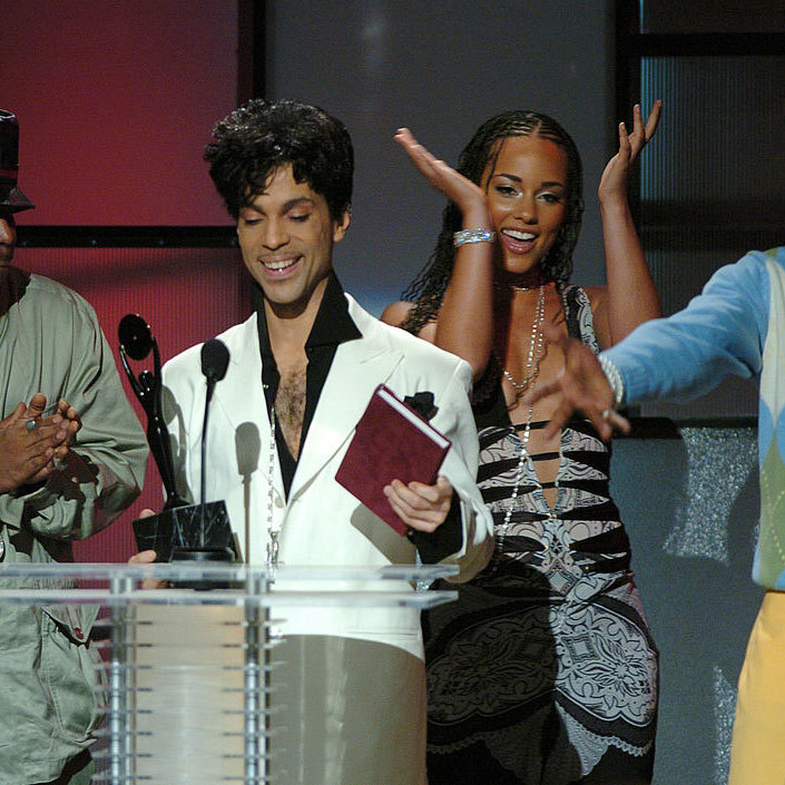 "Alicia inducted the ""Purple Rain"" singer into the Rock and Roll Hall of Fame 2004.