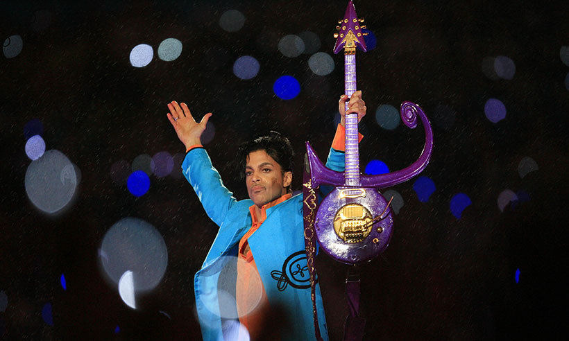 "As rain poured down on Dolphin Stadium in Miami, Prince gave one of the most epic halftime show performances of all time. Playing on a guitar shaped in the symbol that had become his name, the game-changing performance of ""Purple Rain"" that saw the singer's shadow behind a tarp made it ok to make the show a spectacle again, and a sexy one at that, paving the way for future performers like Beyonce and Katy Perry (and scrubbing away the tarnish brought on by Janet Jackson's wardrobe malfunction). 