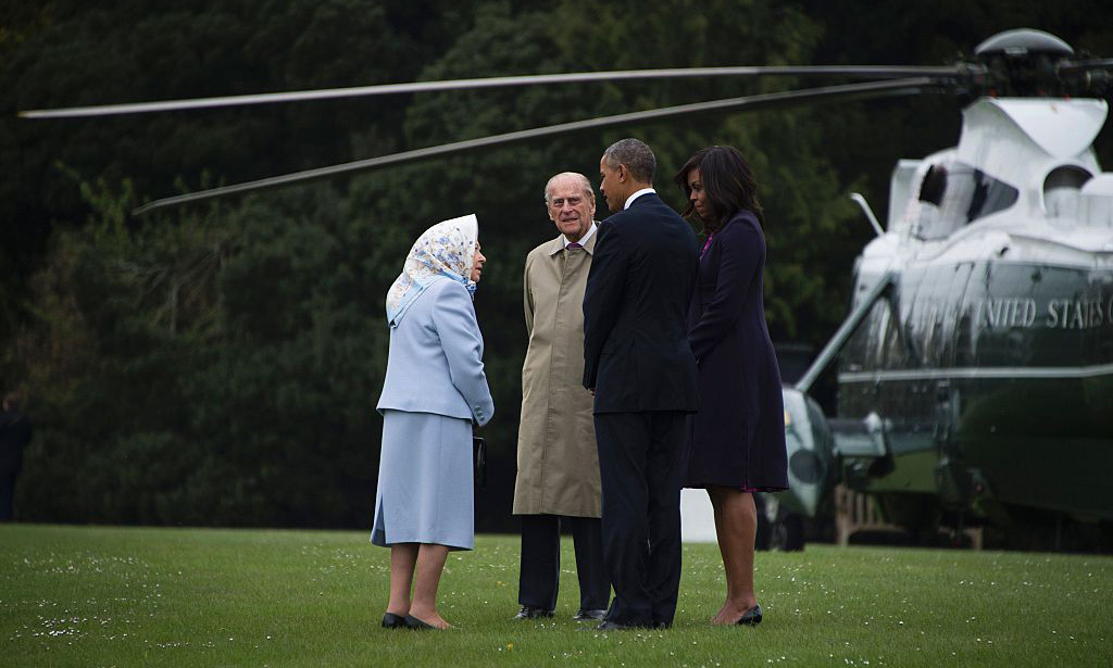 The royals and Americans chatted on the grounds. Perhaps President Obama brought up his side of the debate for the United Kingdom to remain in the European Union.