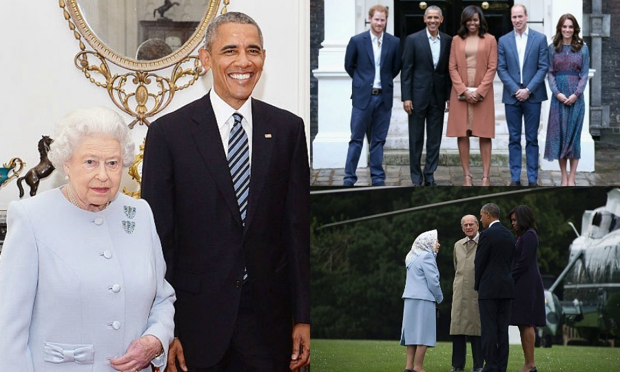 It was the Obamas' day out with the British royal family! President Obama and First Lady Michelle made a special visit to England, where they celebrated Queen Elizabeth's birthday at Windsor Castle and enjoyed dinner in London with Prince William, Kate and Prince Harry.